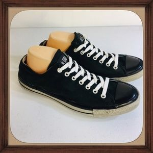 Converse Black With Gray Trim Canvas Skater Shoes